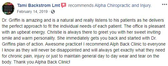 Chiropractic Carrollton GA Alpha Chiropractic and Injury Patient Testimonial